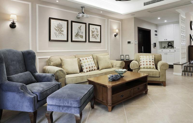 休闲美式客厅装饰效果图