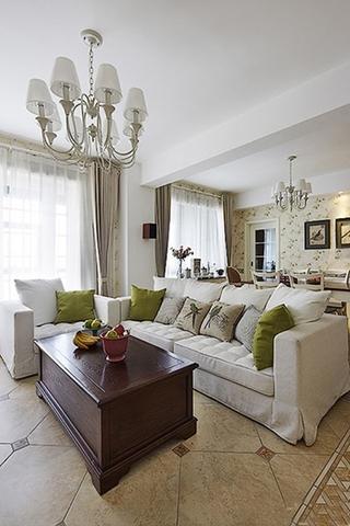 最有魅力的韩式田园风格装修温馨客厅设计