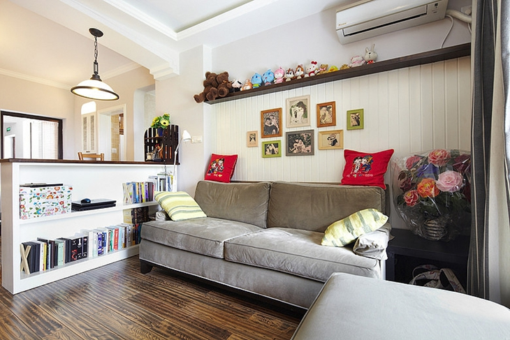 两室两厅美式风格装修客厅效果图