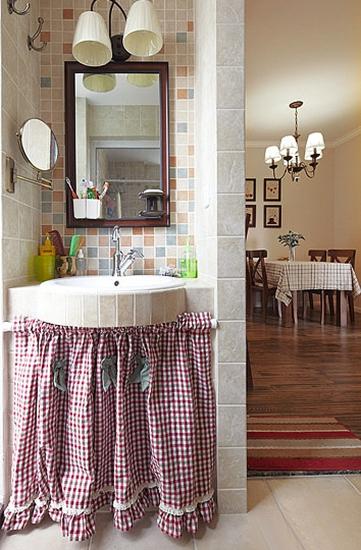 两室两厅美式风格装修洗手台