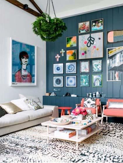 客厅照片墙布置平面图