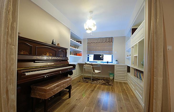 130平温馨简约风格装修书房设计