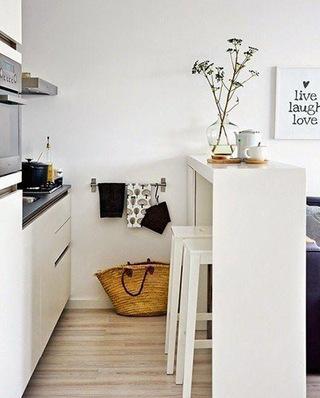 北欧风格厨房吧台设计