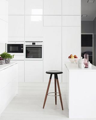 极简厨房小吧台设计图