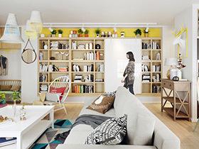 60平北欧风格一居室装修 色彩营造个性家
