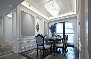 欧式四房装修效果图餐厅效果图