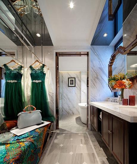 时尚奢华美式卫生间过道设计