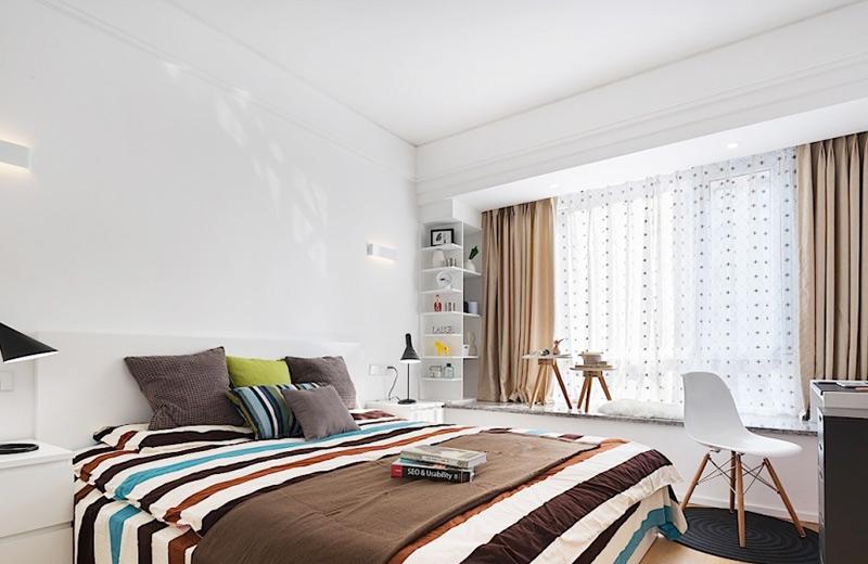 简约风格带飘窗卧室设计