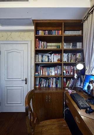 140平法式装修风格书房效果图