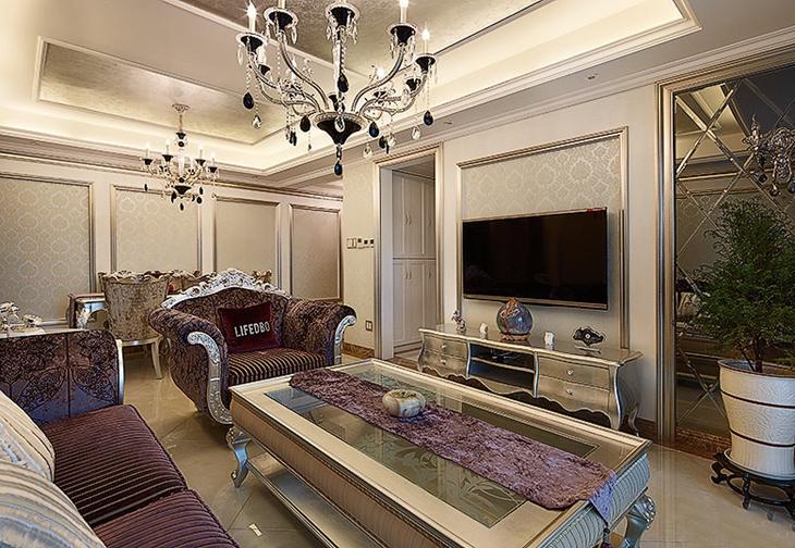 高端大气欧式客厅 电视背景墙设计