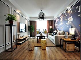 130平三居室新中式装修 体验艺术之美感