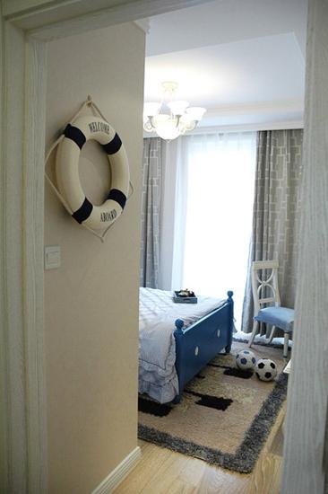 110平清新韩式装修效果图清新卧室设计