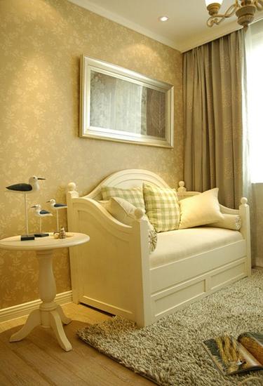 110平清新韩式装修效果图沙发床设计