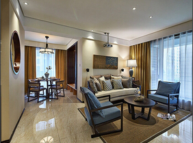 混搭风格三室两厅装修图  充满魅力的空间