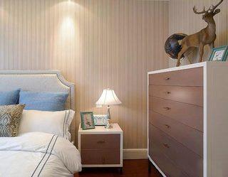 舒适宜家法式 次卧床头柜设计图