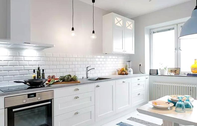80平混搭风格公寓厨房效果图装修