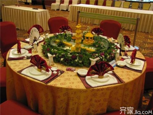 中餐宴会摆台基本标准图片
