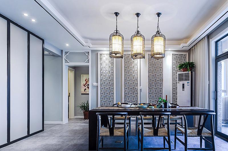160平中式风格三居室餐厅装潢图