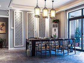 160平中式风格三居室装修 荷塘夜色