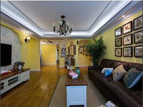 110平美式田园风格三居室装修  别致美感