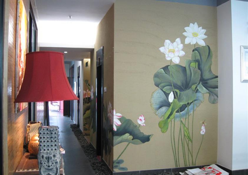 室内墙绘图片