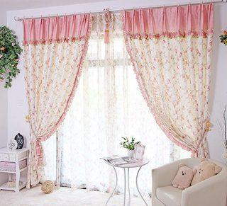 客厅碎花窗帘装修装饰效果图