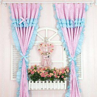 客厅碎花窗帘布置图片