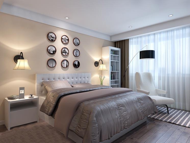 卧室床头背景照片墙图片大全