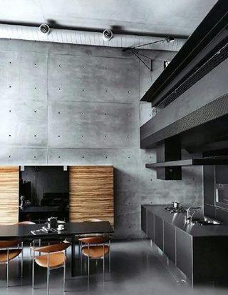 极简开放式厨房装修效果图