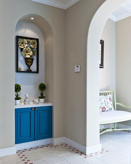优雅地中海风情门厅玄关设计