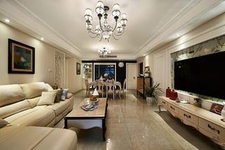 130平绝美欧式风格装修欧式客厅