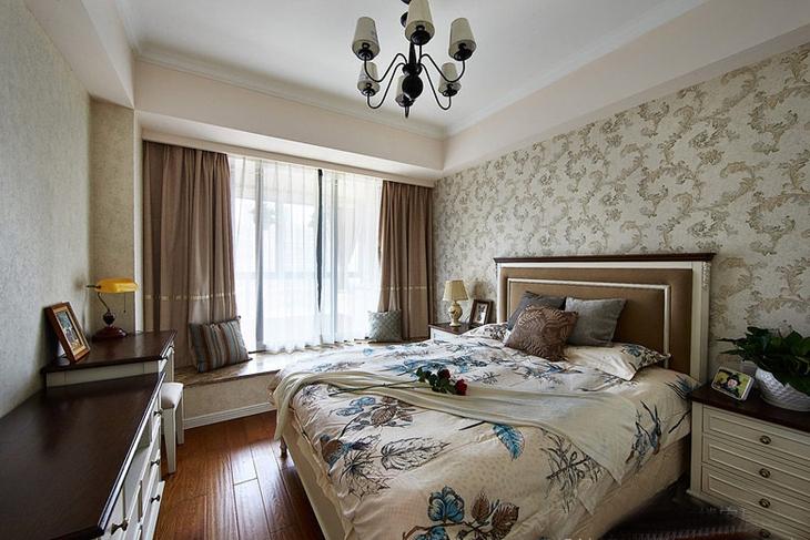 100平魅力简约美式风格装修美式卧室效果图