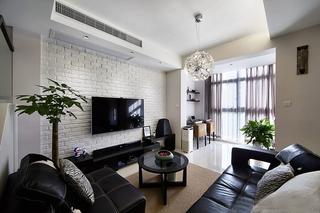 120平温馨小复式装修客厅效果图