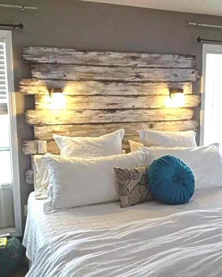 另类卧室床头设计图片