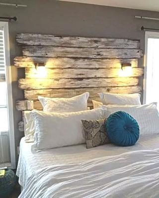 """10个卧室床头设计图片 去访""""变态""""环保家1/10"""
