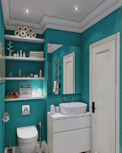 美式小户型卫生间实景图高清图片