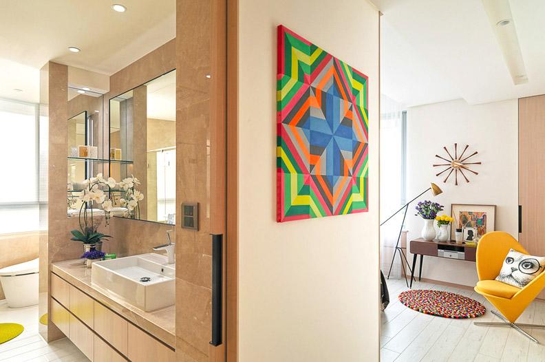 现代简约小别墅卫生间效果图