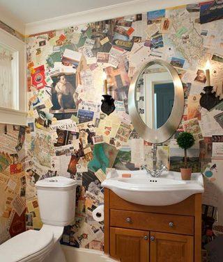 卫生间涂鸦背景墙图片大全