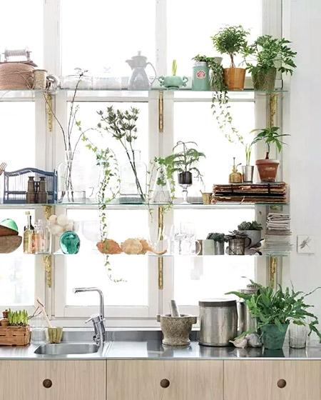 厨房窗户收纳效果图大全