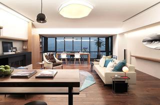 130平北欧风格两居室吊顶装修图