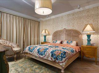 乡村美式新古典卧室效果图