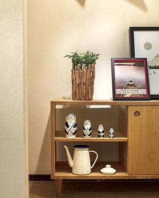 70平北欧风格两居室玄关柜图片