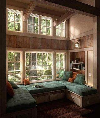 复古风格飘窗装修装饰效果图