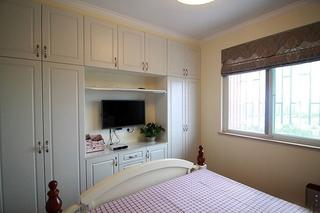 75平美式田园风格装修卧室平面图