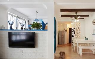 清新地中海装修电视背景墙设计