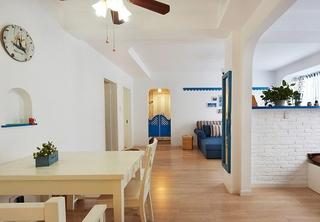 清新地中海装修餐厅设计