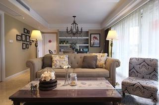 雅致美式风格装修客厅设计