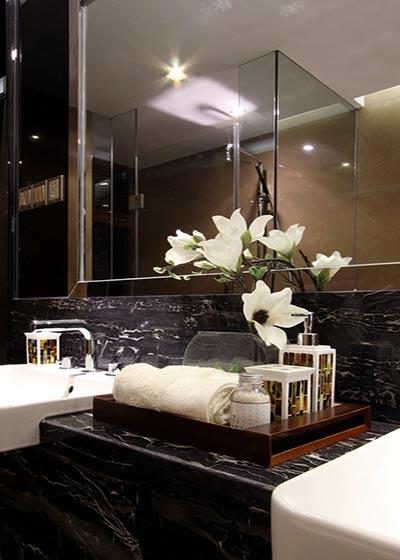 豪华新中式 大理石洗手台效果图