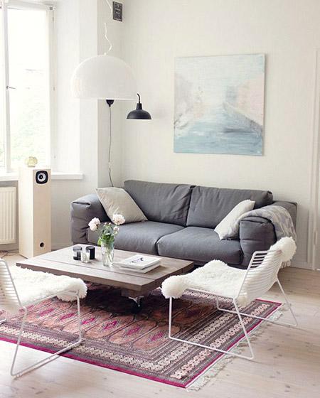 家居美图 北欧风格客厅双人沙发效果图图片