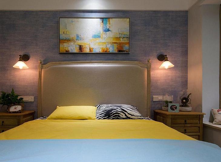 文艺后现代卧室背景墙设计